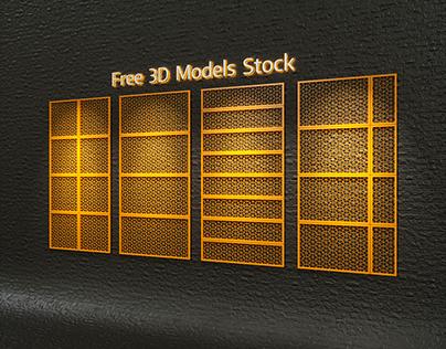 Openwork Panels Set.1 Free 3D Model