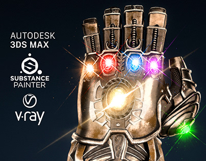 FREE Thanos Infinity Gauntlet - 3D Max Tutorial