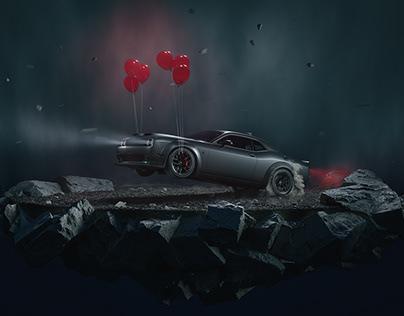Dodge Hellcat Redeye Diorama