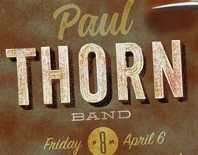 Paul Thorn Band Promotional Poster and Social Media Ads