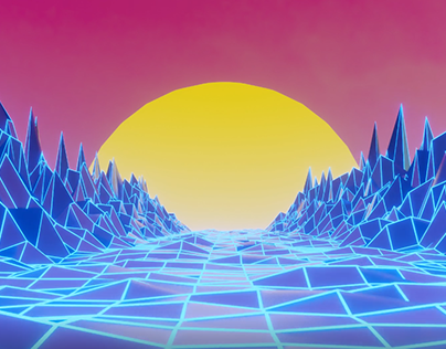 Wireframe sunset