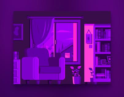 Sunset Purple Illustrations