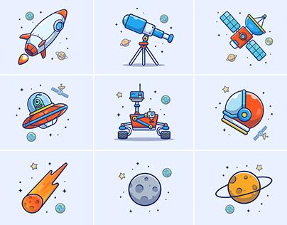 SPACE ILLUSTRATIONS V1