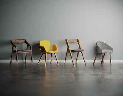 Charlie Pommier - Chaise 3D CGI furniture