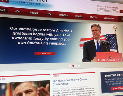 Jon Huntsman 2012 - presidential campaign website
