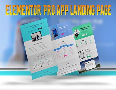 Elementor Pro App Landing Page
