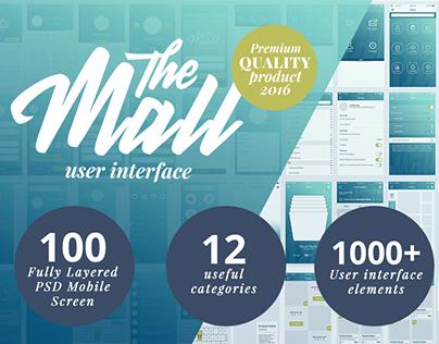 """The Mall"" Premium mobile UI kit"