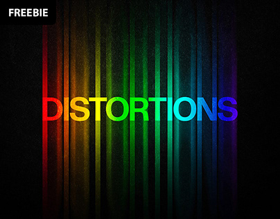Free Download: Color Distortion Text Effect