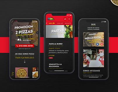 Molle Pizza Web Design
