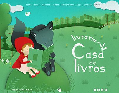 Website Casa de Livros