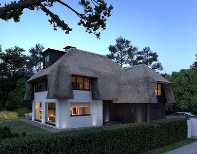 3d visual Villa in Zoute Knokke België