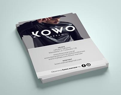 KOWO WARSAW | Fashion Brand Flyer