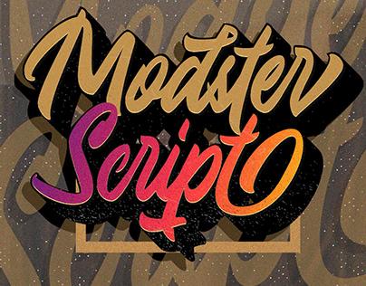 Modster Script + Shadow Font