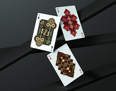 9 ♦ 10 ♦ 2 ♣ Of Bamboo Shoots Playing Cards Series