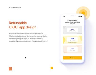 Insurance mobile app design