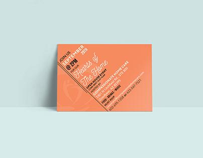 Invitation Post Card and Email Blast Design