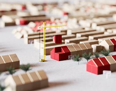 Wooden blocks miniatures