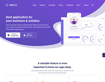 AppSide App Landing Page Template