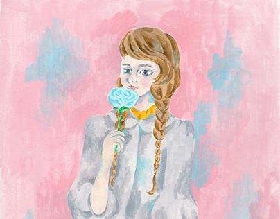 original art『 Rose color girl』
