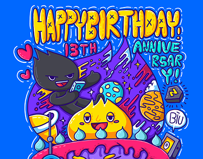 站酷十三周年生日贺图