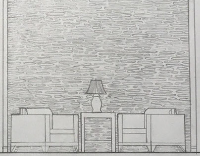 Hand Drafting Project 1 Feature Wall