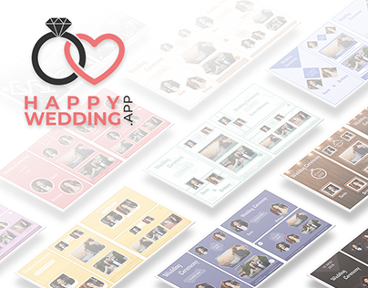 Digital Wedding Album Templates - Happy Wedding App