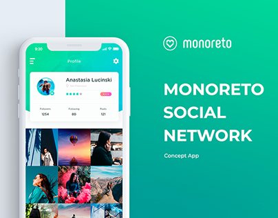 Monoreto Social network - App concept