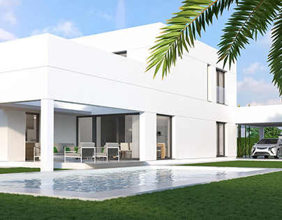 3D Visualization of a villa in Spain