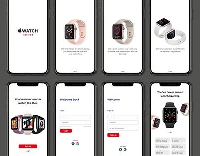 """Apple Watch Series 5"" purchase mobile application"