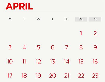 Netflix: Calendar Template