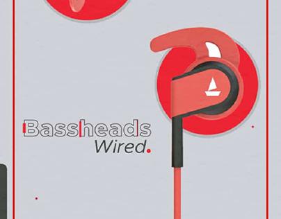 boAt Earphones Poster Design