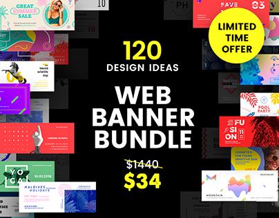 120 in 1 Web Banner Design Templates Bundle