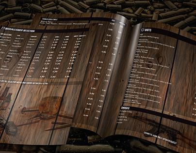Armoury Bar menu design
