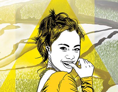 Poster. Girl 001. 30*120 cm