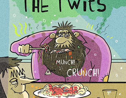 Roald Dahl , The Twits Cover design