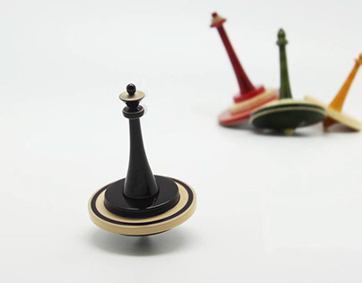 Chess Spinning Tops