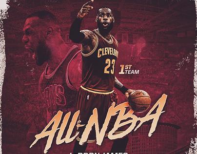 2016-17 Cleveland Cavaliers Player Achievement Graphics