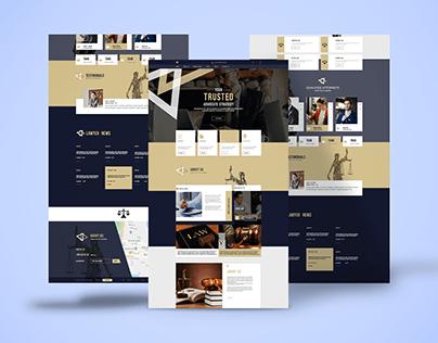 Web UI Design For Law Agency