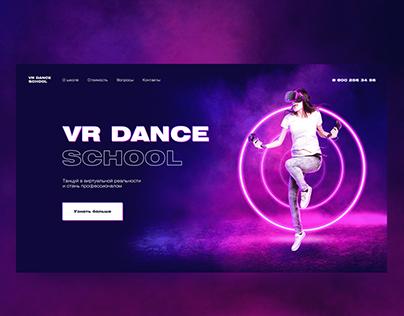 Virtual dancing. Website design for virtual dancing