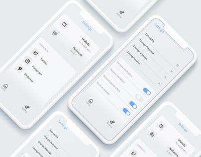 Setting app | Daily UI & UX