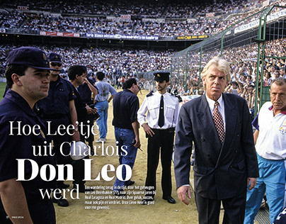 Spreads for VI Spain Special, about Leo Beenhakker