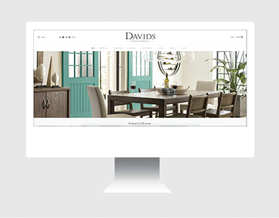 davids furniture website design