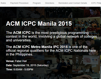 ACM ICPC Manila 2015 Website