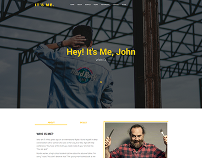 It's Me - Personal Bootstrap template