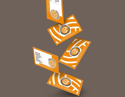 Eczacıbaşı Volleybal School Card Design