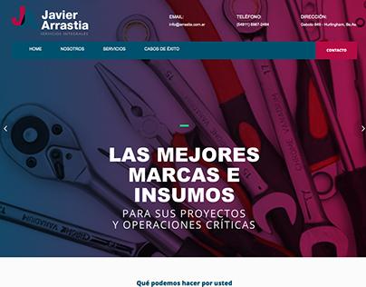Javier Arrastia - Sitio web en Wordpress