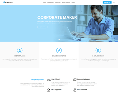 Corporate Website Development by Wordpress