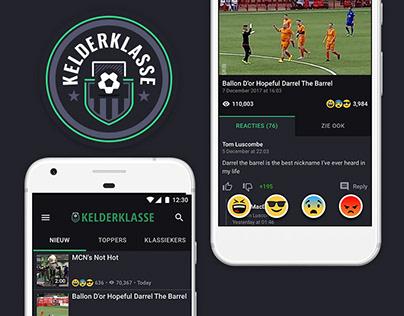 Kelderklasse, Sunday League Football, UX/UI & Branding