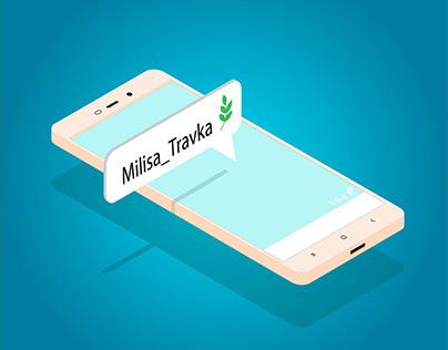 Телефон Xiaomi в изометрии