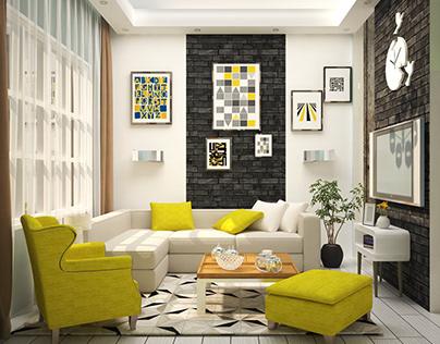 60 sqm Apartment Interior Design  Academic project